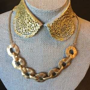 Jewelry - Brush Gold Loop Necklace